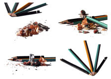 Sharpeners and pencils Royalty Free Stock Image
