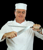 Sharpening Chef Stock Images