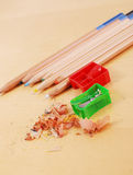 Sharpening Colored Pencils Stock Image