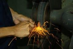 Sharpening lathe Royalty Free Stock Image