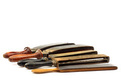 Sharpening leathers Stock Photos