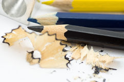 Sharpening and pencils Stock Photo