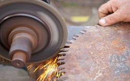 Sharpening saw Stock Photos
