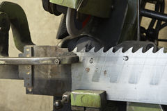 Sharpening of saw blades Royalty Free Stock Photo