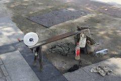 Sharpening tools Stock Photo