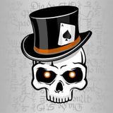 Sharpie do crânio do chapéu do cilindro Imagens de Stock Royalty Free