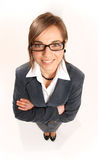 Sharply dressed business woman. Royalty Free Stock Image