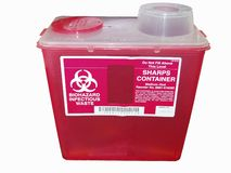 Sharps container Stock Photography