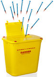 Sharps and container Stock Photography