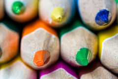 Sharps of sharpened colored pencils Royalty Free Stock Photo