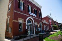 Sharpsburg MD图书馆和城镇厅 库存图片