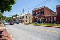 Sharpsburg MD大街 免版税图库摄影