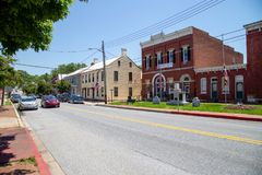 The Sharpsburg MD Main Street royalty free stock photography