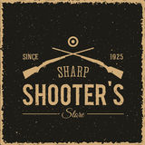 Sharpshooters Store Abstract Vintage Label or Logo Royalty Free Stock Photos