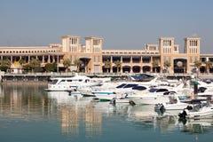 Sharq小游艇船坞在科威特市 免版税库存照片