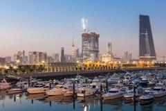 Sharq Marina at dusk, Kuwait Royalty Free Stock Photo