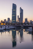 Sharq Marina and Kuwait City Royalty Free Stock Photos