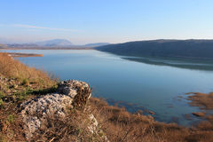 Shas lake surrounded by mountains (Montenegro, winter) Stock Photography