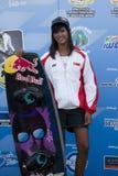 Shasa Christian. PUTRAJAYA, MALAYSIA - OCTOBER 9: Shasa Christian from Singapore wins the bronze medal at 2011 IWWF Asian Waterski & Wakeboard Championships in Stock Image
