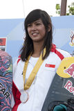Shasa Christian. PUTRAJAYA, MALAYSIA - OCTOBER 9: Shasa Christian from Singapore wins the bronze medal at 2011 IWWF Asian Waterski & Wakeboard Championships in Stock Photography