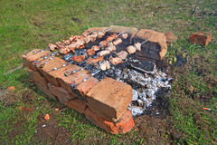 Shashlik Stockbild