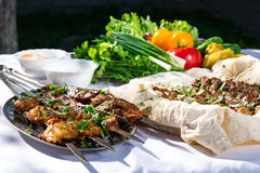 Shashlik Fotos de Stock Royalty Free