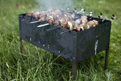 Shashlik 5. Shashlik, dish consisting of lamb meat and other vegetables roasted on a skewer, shish kebab Stock Image