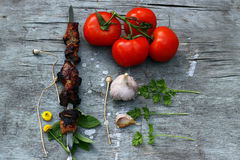 Shashlik Photographie stock
