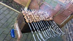 Shashlik - barbecue russo tradizionale Carne sul barbecue Alimento Immagini Stock