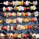 Shashlik with chicken Royalty Free Stock Photography