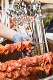 Shashlik closeup Stock Photos