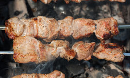Shashlik closeup Royalty Free Stock Image