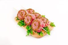 Shashlik da carne de carneiro. Rolo em um shpazhka Imagem de Stock
