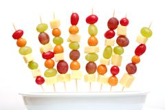Shashlik da fruta Fotografia de Stock