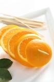 Shashlik da laranja da fruta Imagem de Stock