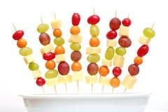 Shashlik de la fruta Fotografía de archivo