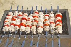 Shashlik del cerdo Imagen de archivo