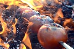 Shashlik del tomate Fotografía de archivo