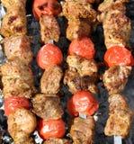 Shashlik on fire Stock Images