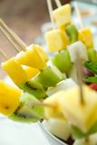 Shashlik from fruits Stock Photos