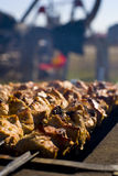 Shashlik on Grill Royalty Free Stock Photography