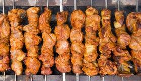 Shashlik - kebab dello shish Immagini Stock Libere da Diritti