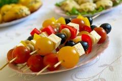 Shashlik from olives Stock Photography