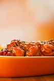 Shashlik on plate Stock Photography