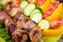 Shashlik on a plate Stock Photos