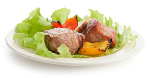 Shashlik on the plate Royalty Free Stock Photo
