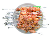 Shashlik raw Stock Image