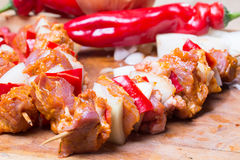 Shashlik redy for bbq Stock Image