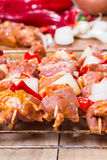 Shashlik redy for bbq Royalty Free Stock Photo