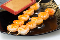 Shashlik with seafood Stock Photography